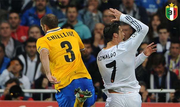 Giorgio Chiellini & Cristiano Ronaldo